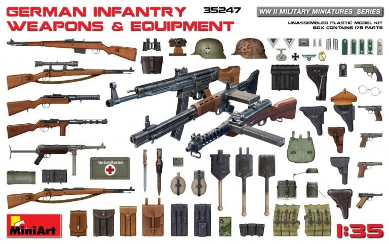 MiniArt German Infantry Weapons & Equipment - Scale 1/35 - Mini Art - MIT35247