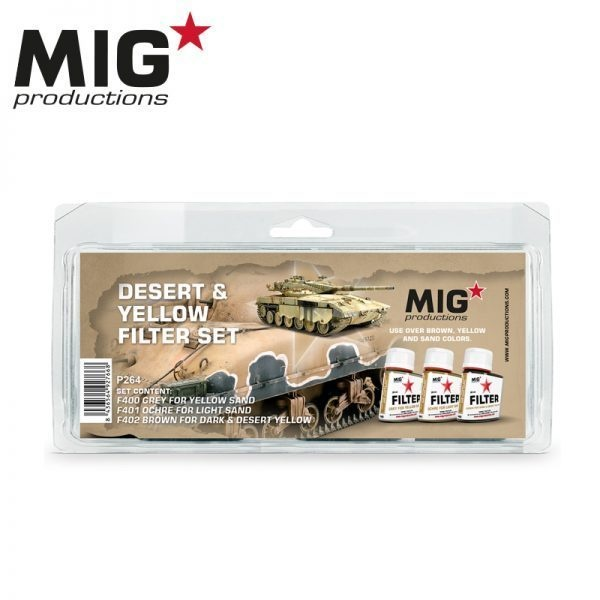 Mig Productions Desert & Yellow Filter Set - MIG Productions - MIG-P264