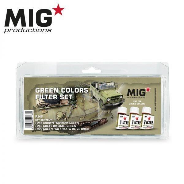Mig Productions Green Colors Filter Set - MIG Productions - MIG-P265