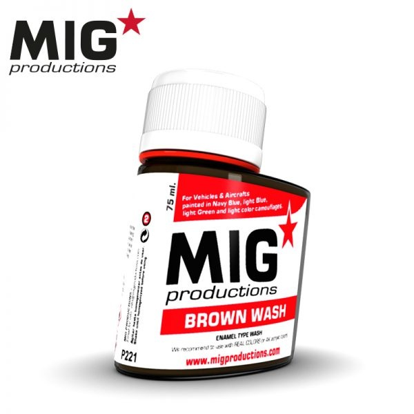 Mig Productions Brown Wash - 75ml - MIG Productions - MIG-P221
