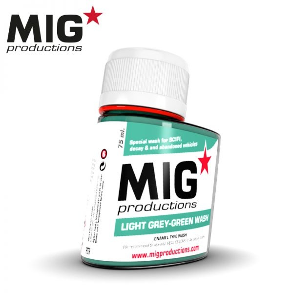 Mig Productions Light Grey-Green Wash - 75ml - MIG Productions - MIG-P279