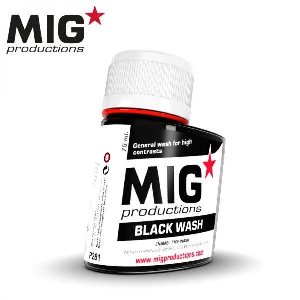 Mig Productions Black Wash - 75ml - MIG Productions - MIG-P281