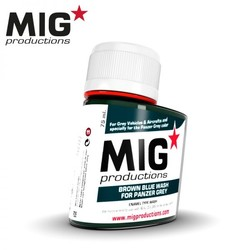 Brown Blue Wash for Panzer Grey - 75ml - MIG Productions - MIG-P285