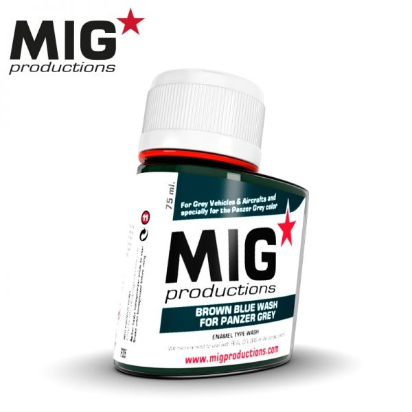 Mig Productions Brown Blue Wash for Panzer Grey - 75ml - MIG Productions - MIG-P285