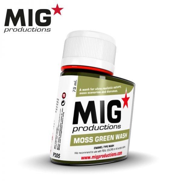 Mig Productions Moss Green Wash - 75ml - MIG Productions - MIG-P305