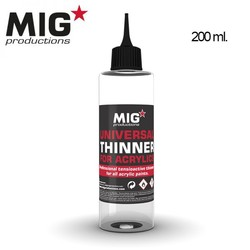 Universal Thinner for Acrylics  - 200ml - MIG Productions - MIG-P263