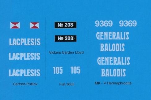 Black Lion Decals Latvian Army 1919-1940 - Scale 1/35 - Black Lion Decals - BLD35011