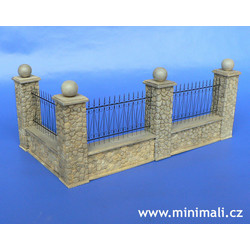 Park Fence Elements - Scale 1/48 - Minimali Productions - Mii 048