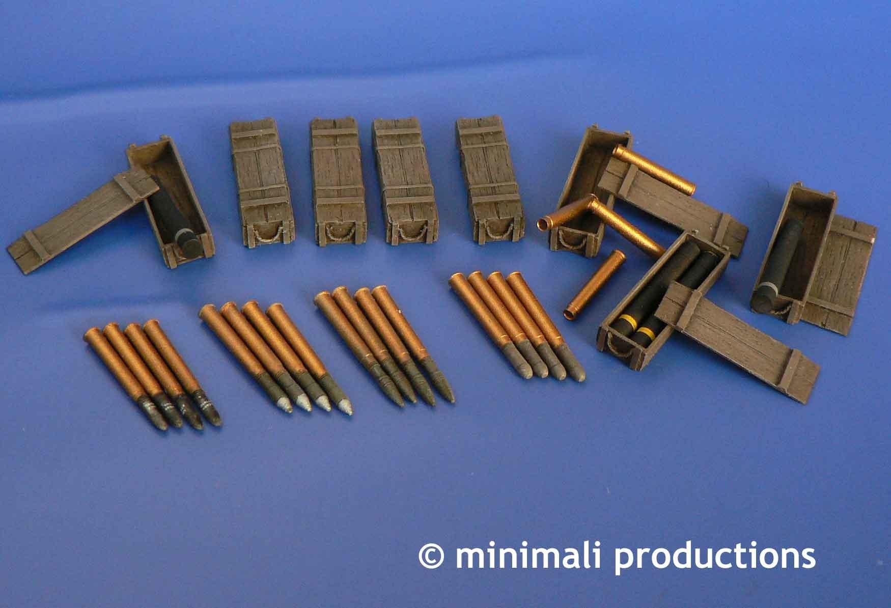 Minimali Productions U.S.76Mm Ammunition For M4 Sherman - Scale 1/48 - Minimali Productions - Mii 045