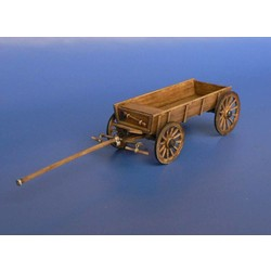 Wooden Cart For Two Horses - Scale 1/72 - Minimali Productions - Mii 033