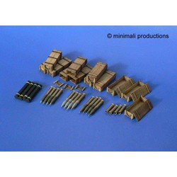 U.S. 105Mm Howitzer Ammunition - Scale 1/48 - Minimali Productions - Mii 030