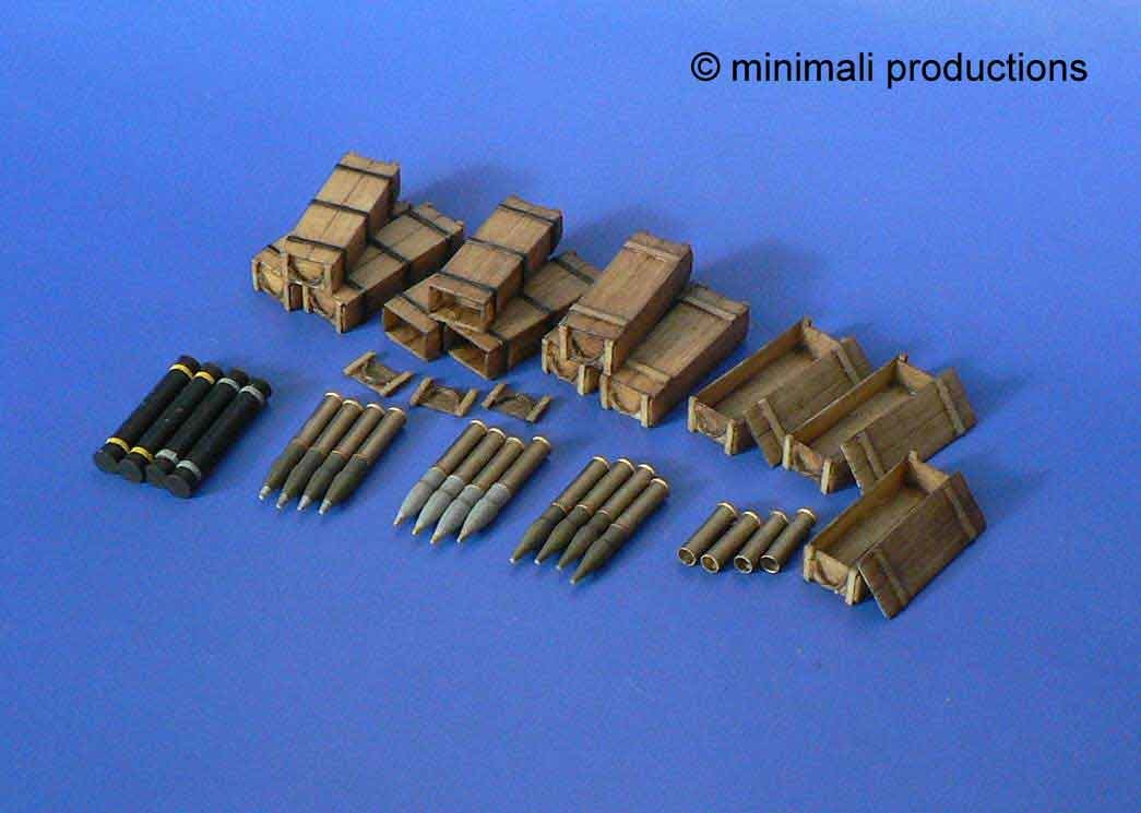 Minimali Productions U.S. 105Mm Howitzer Ammunition - Scale 1/48 - Minimali Productions - Mii 030