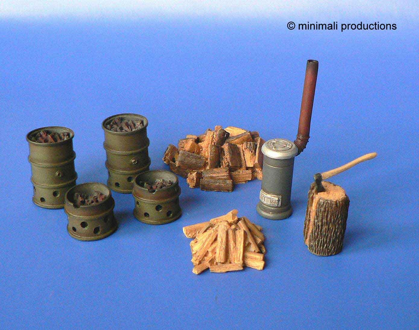 Minimali Productions Stove And Brazier - Scale 1/48 - Minimali Productions - Mii 027
