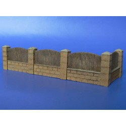 Fence With Underpinning - Scale 1/72 - Minimali Productions - Mii 025