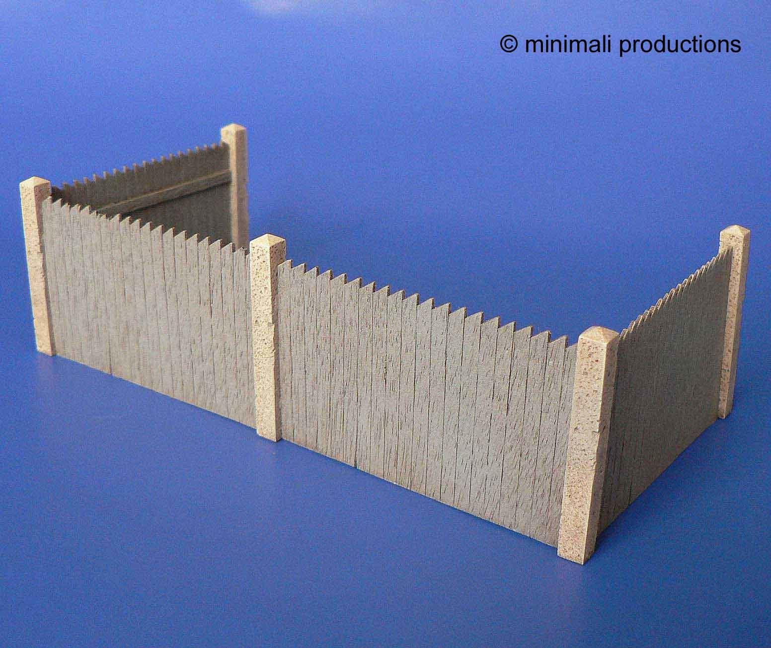 Minimali Productions Wooden Corral - Scale 1/48 - Minimali Productions - Mii 023