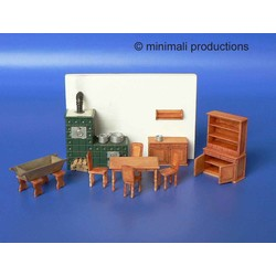 Kitchen Furniture With Stovetile - Scale 1/72 - Minimali Productions - Mii 021