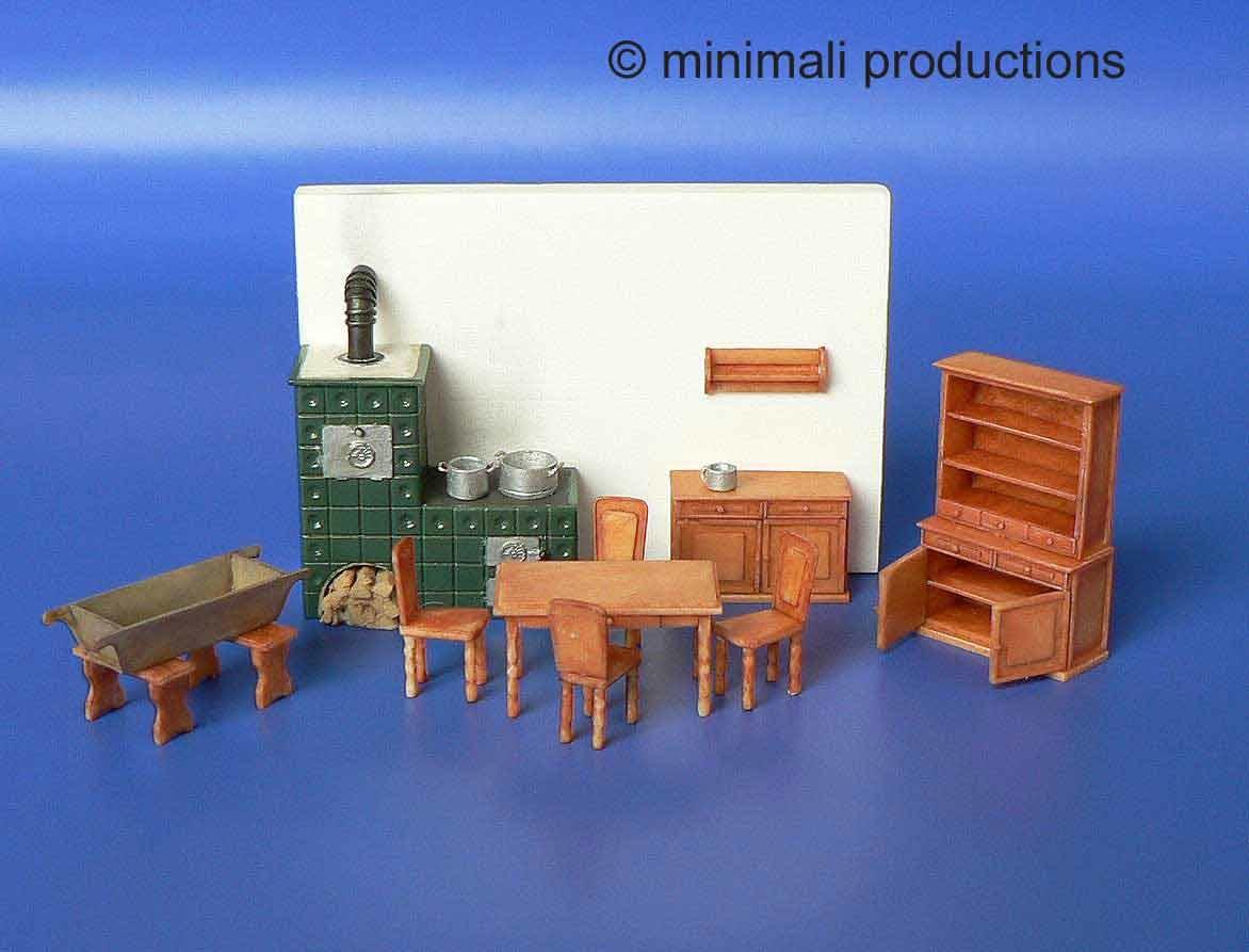 Minimali Productions Kitchen Furniture With Stovetile - Scale 1/72 - Minimali Productions - Mii 021