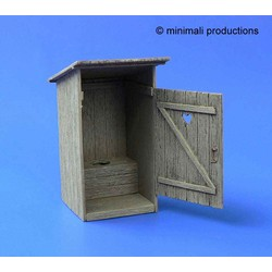 Wooden Latrine - Scale 1/48 - Minimali Productions - Mii 020