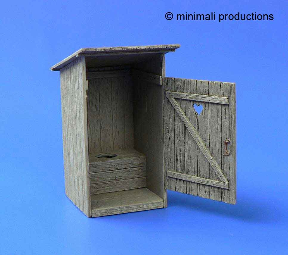 Minimali Productions Wooden Latrine - Scale 1/48 - Minimali Productions - Mii 020