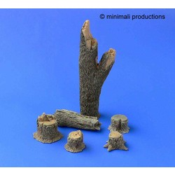 Tree Trunks - Scale 1/48 - Minimali Productions - Mii 019