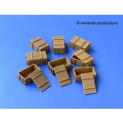 Wooden Boxes - Scale 1/48 - Minimali Productions - Mii 015