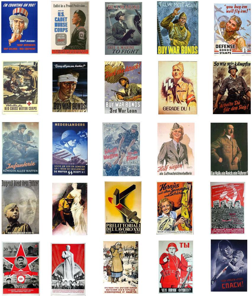 Minimali Productions Propaganda Posters WWII - Scale 1/72 - Minimali Productions - Mii 005
