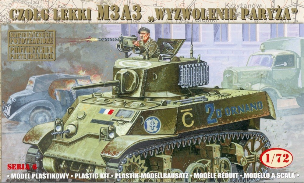 Mirage Hobby M3A3 - Liberation Of Paris - Scale 1/72 - Mirage Hobby - MIY 72676