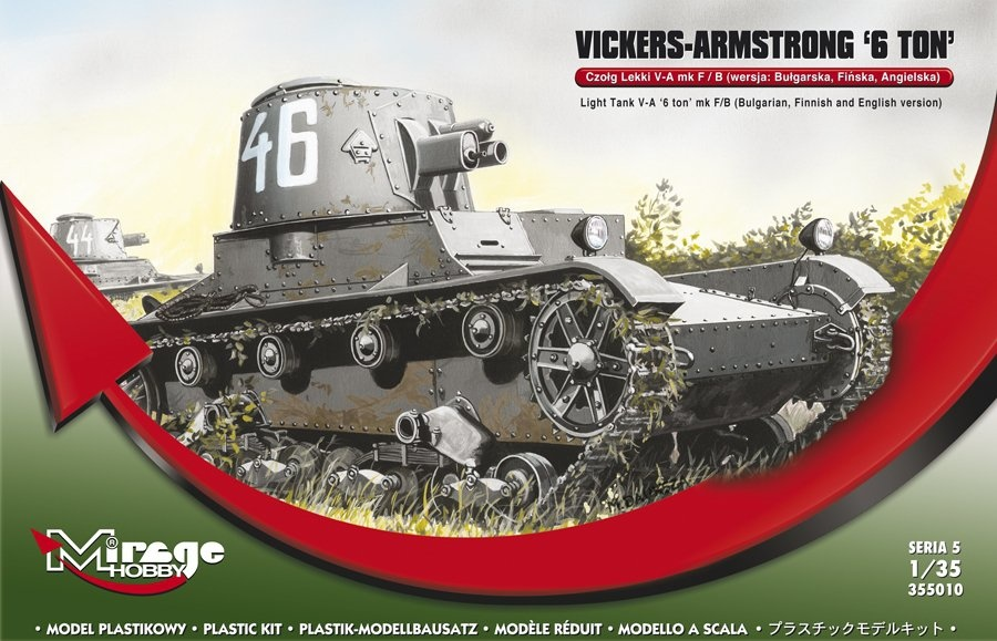 Mirage Hobby Vickers Armstrong 6Ton Mk F/B Light Tank  - Scale 1/35 - Mirage Hobby - MIY 355010