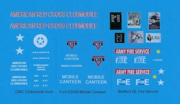 Black Lion Decals US and UK service trucks WW-2 - Scale 1/72 - Black Lion Decals - BLD72025