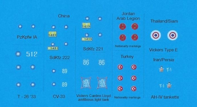 Black Lion Decals Asian Armies WW-2 (China, Thailand, Iran, Turkey, Jordan) - Scale 1/72 - Black Lion Decals - BLD72024