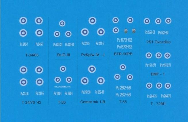 Black Lion Decals Finnish Army 1945 - 1995 - Scale 1/72 - Black Lion Decals - BLD72015