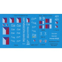 Liberation of Prague, May 1945 - Scale 1/72 - Black Lion Decals - BLD72014