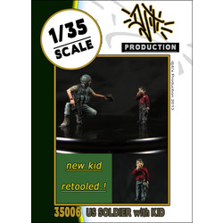 Retooled kids with us soldier - Scale 1/35 - Djiti - DJS35006
