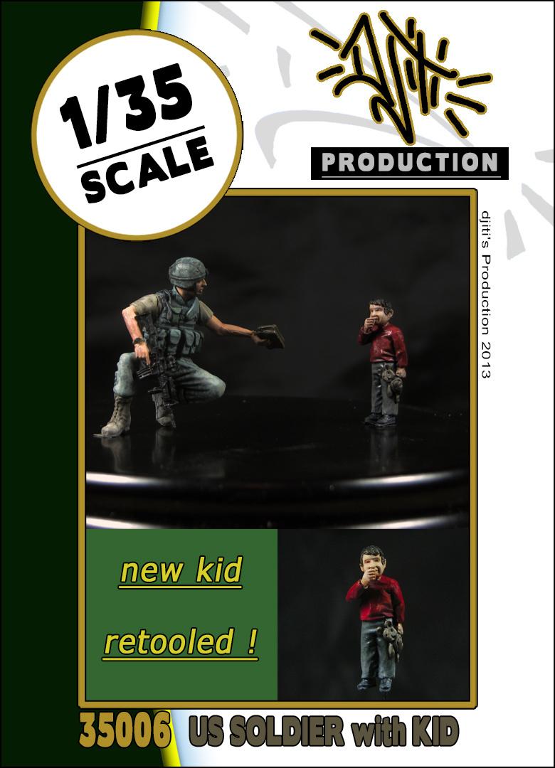 Djiti Production Retooled kids with us soldier - Scale 1/35 - Djiti - DJS35006