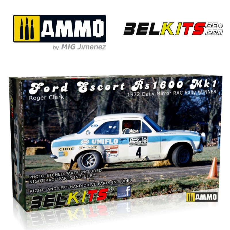 Belkits Ford Escort Mk.1 Clark Rac 1972 - Scale 1/24 - Belkits - BEL007