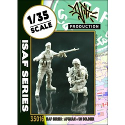 ISAF series ANA soldier with US soldier - Scale 1/35 - Djiti - DJS35016