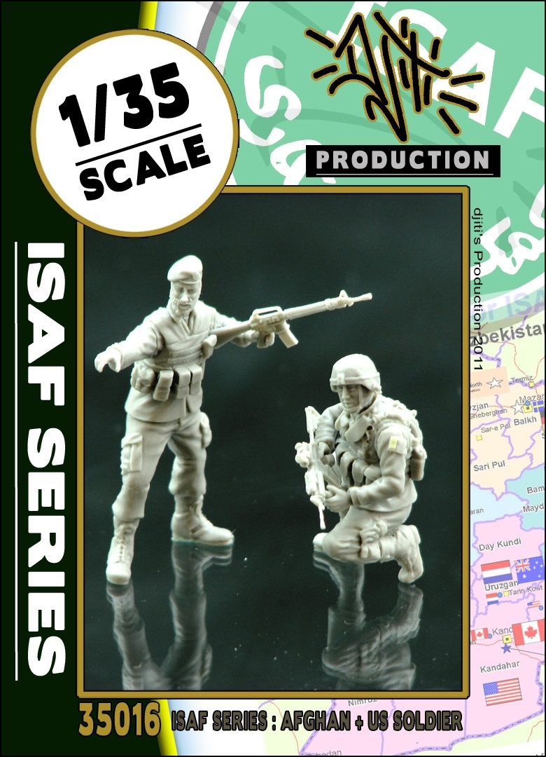 Djiti Production ISAF series ANA soldier with US soldier - Scale 1/35 - Djiti - DJS35016
