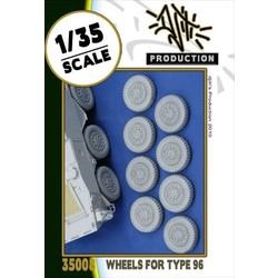 Wheels set for type 96 - Scale 1/35 - Djiti - DJS35008