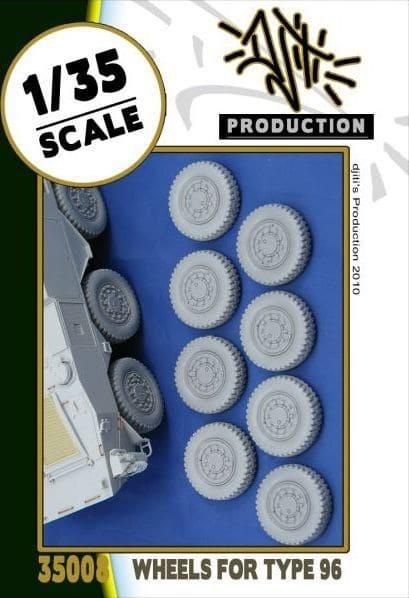 Djiti Production Wheels set for type 96 - Scale 1/35 - Djiti - DJS35008