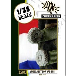 Wheels set for VAB 4x4 - Scale 1/35 - Djiti - DJS35013