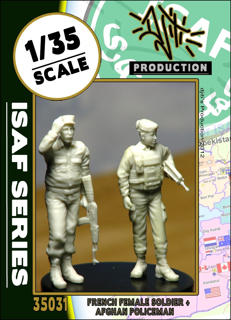 Djiti Production ISAF series ANA policeman with french female soldier - Scale 1/35 - Djiti - DJS35031