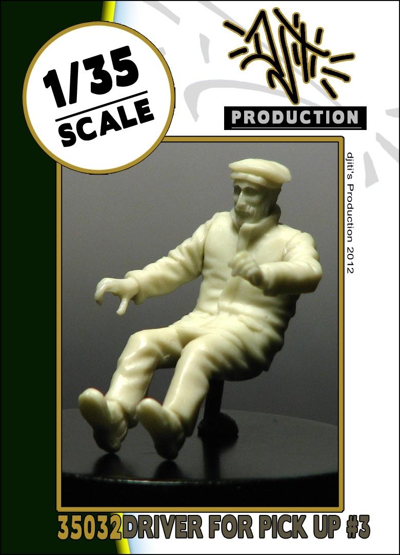 Djiti Production Driver for pick up 2 - Scale 1/35 - Djiti - DJS35032