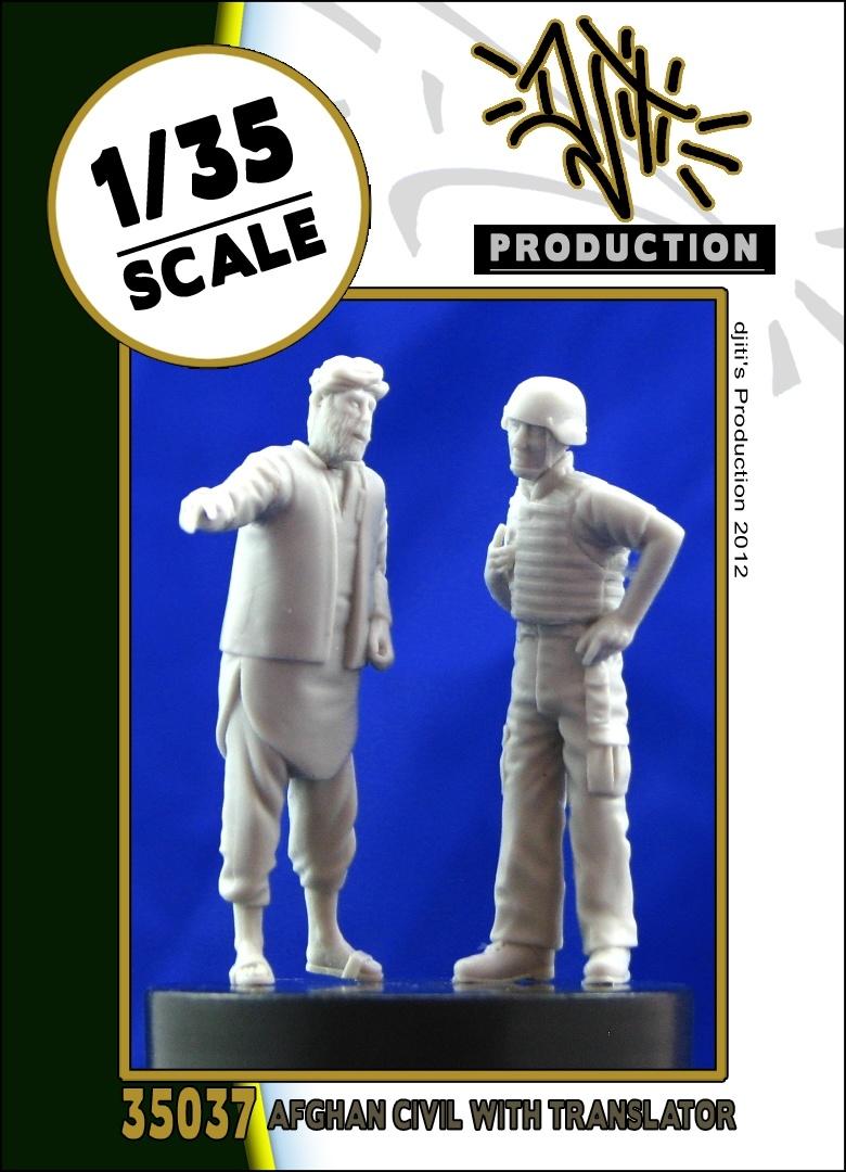 Djiti Production Afghan civil and Translator - Scale 1/35 - Djiti - DJS35037