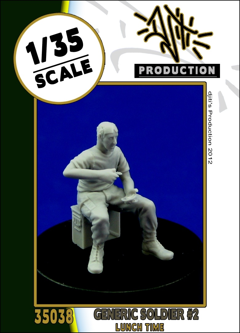 Djiti Production Generic soldier #2 - Scale 1/35 - Djiti - DJS35038