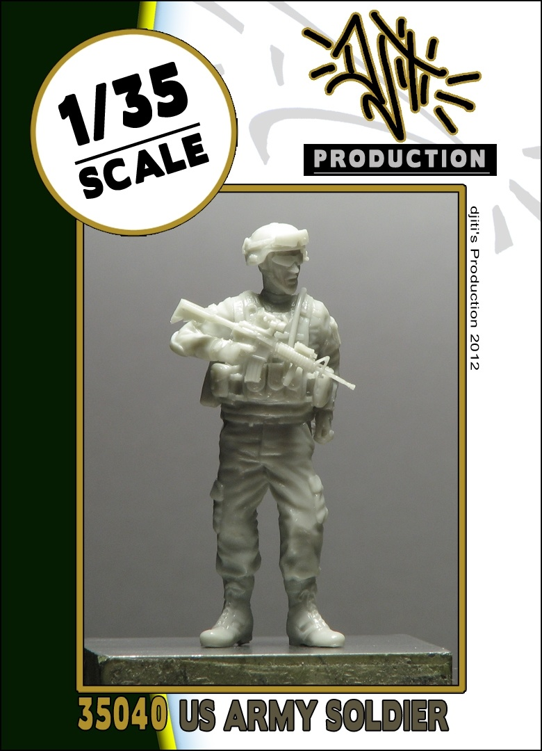 Djiti Production US army soldier - Scale 1/35 - Djiti - DJS35040