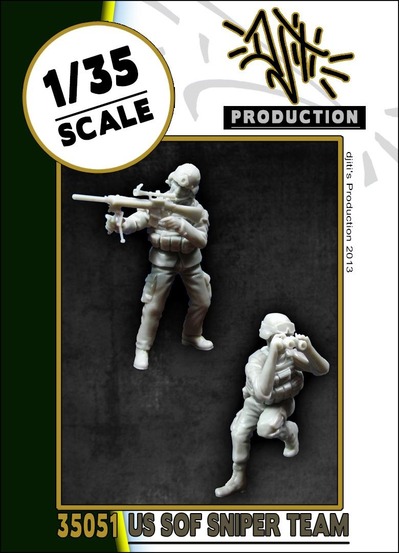 Djiti Production US SOF sniper team - Scale 1/35 - Djiti - DJS35051