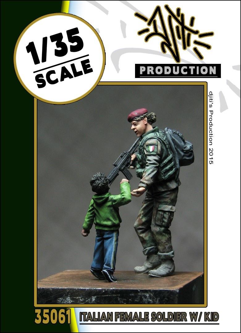 Djiti Production Italian female soldier - Scale 1/35 - Djiti - DJS35061
