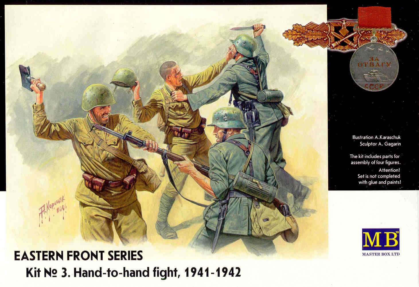 Masterbox *Eastern Front Series. Kit № 3. Hand-to-hand fight, 1941-1942* - Scale 1/35 - Masterbox - MBLTD3524