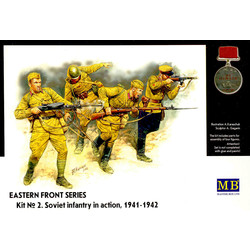 *Eastern Front Series. Kit № 2. Soviet Infantry in action, 1941-1942* - Scale 1/35 - Masterbox - MBLTD3523