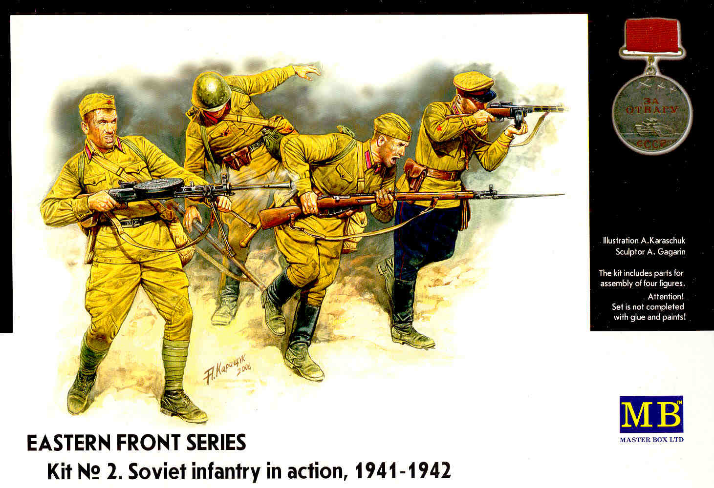 Masterbox *Eastern Front Series. Kit № 2. Soviet Infantry in action, 1941-1942* - Scale 1/35 - Masterbox - MBLTD3523